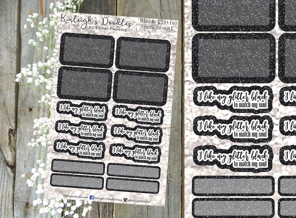 Black Glitter // Functional Sheet