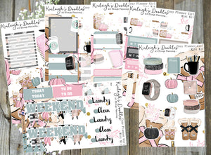 COZY FALL PLANNER GIRL // STICKER KIT