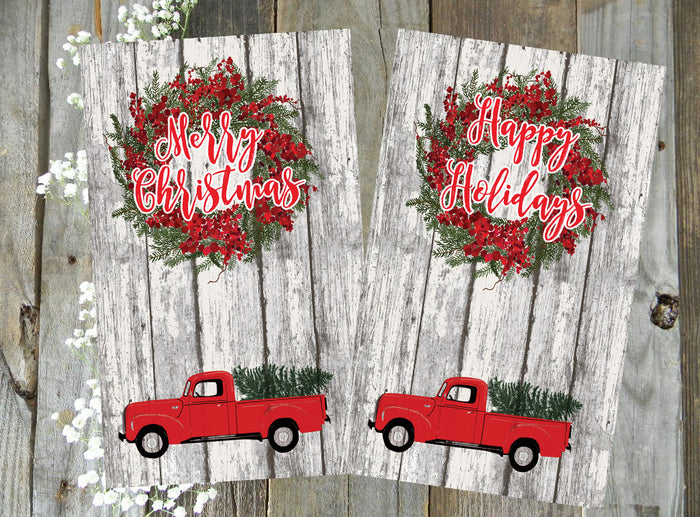 Red Holiday Truck // Digital PRINTABLE Dashboard