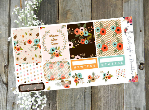 Fall Floral Sampler // Stickers