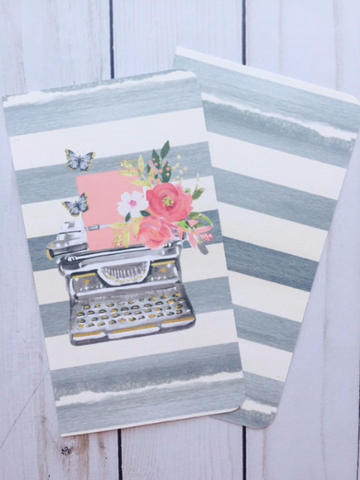 Floral Typewriter // Dashboard