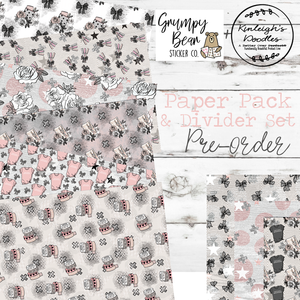 Grumpy Bear Paper Pack // Divider Set Pre-Order // Collaboration