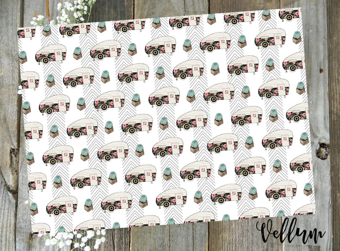 Happy Camper // Digital PRINTABLE Vellum