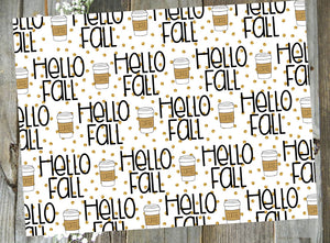 Hello Fall Coffee // Printed Vellum