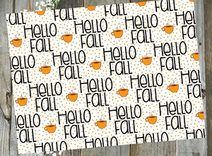 Hello Fall Tea // Digital PRINTABLE Vellum