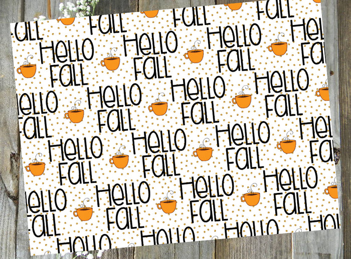 Hello Fall Tea // Printed Vellum