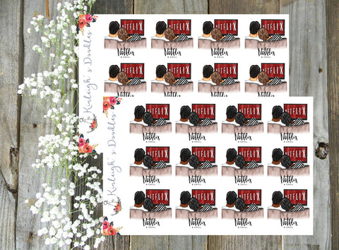 Netflix and Chill // Planner Stickers
