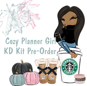 Cozy Planner Girl // KD Kit