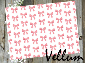 Pink Bows // Digital PRINTABLE Vellum