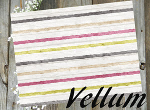 Plum Striped // Vellum
