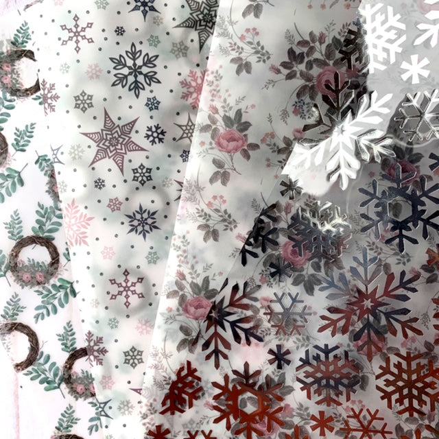 Snowflakes // Foiled Acetate and Vellum Bundle