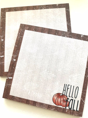 October Doodle Box // Hello Fall Sticky Notes