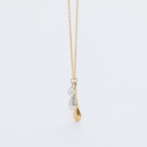 mixed metal dew drop necklace
