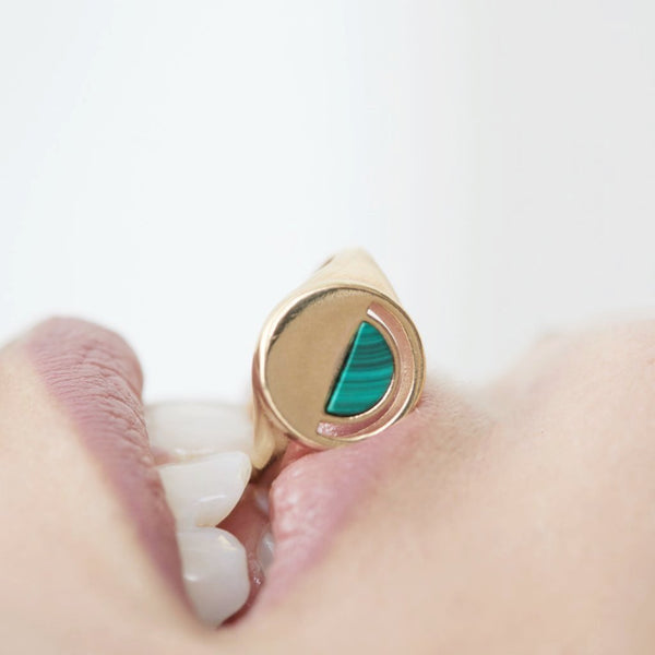 customizable intuition signet ring (front only)