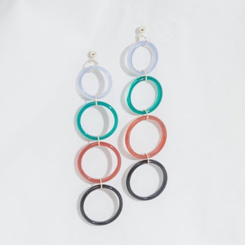 rainbow halo earrings