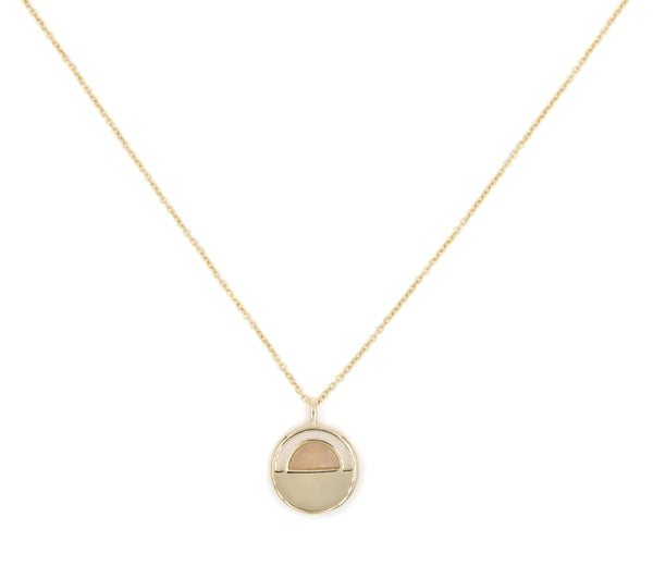 var 14k gold/rose quartz