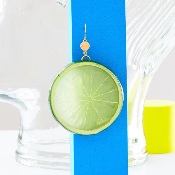 lime earrings