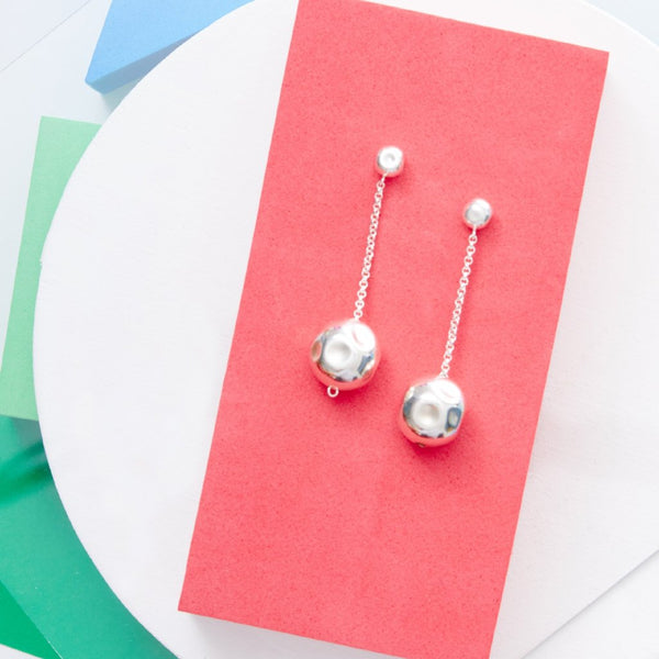 hammered orb earrings