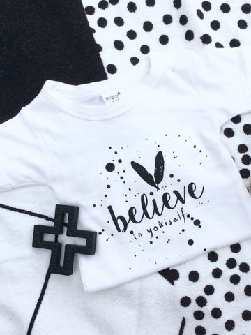 Little Bean Organics bodysuit- Believe in yourself