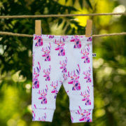Bespoke Baby Leggings- Pink Deer