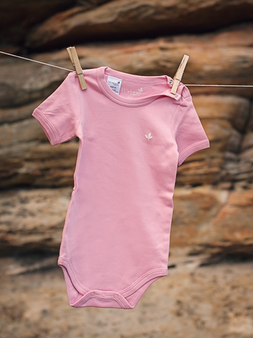 Little Bean Organics- Pink Bodysuit