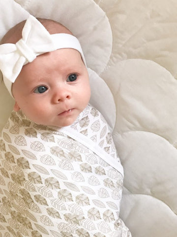 Little Bean Organics- White headband with bow