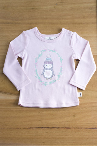 Little Bubba Penguin long sleeve tee- Pink