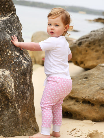 Little Bean Organics Leggings- Flamingo