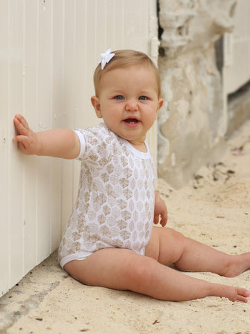 Little Bean Organics Bodysuit- Leaf