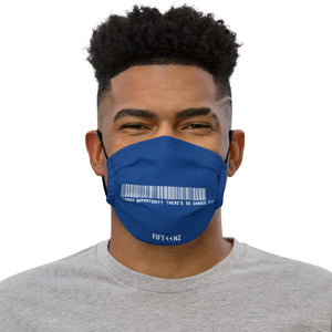 Blue Fifteenz Slogan Premium face mask - Fifteenz