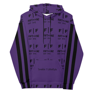 Purple Fifteenz Monogram Unisex Hoodie - Fifteenz