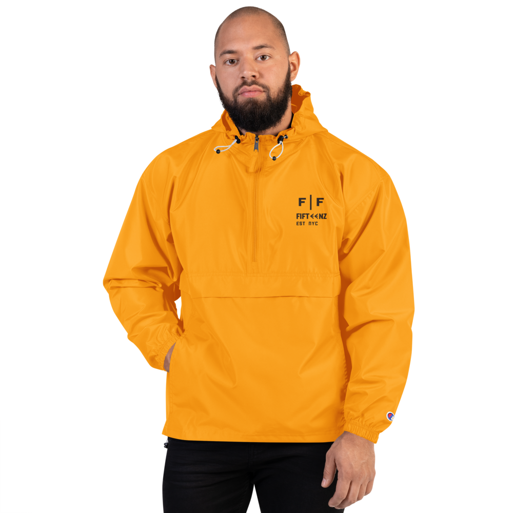 Fifteenz Gravity Logo Embroidered Champion Packable Jacket - Fifteenz
