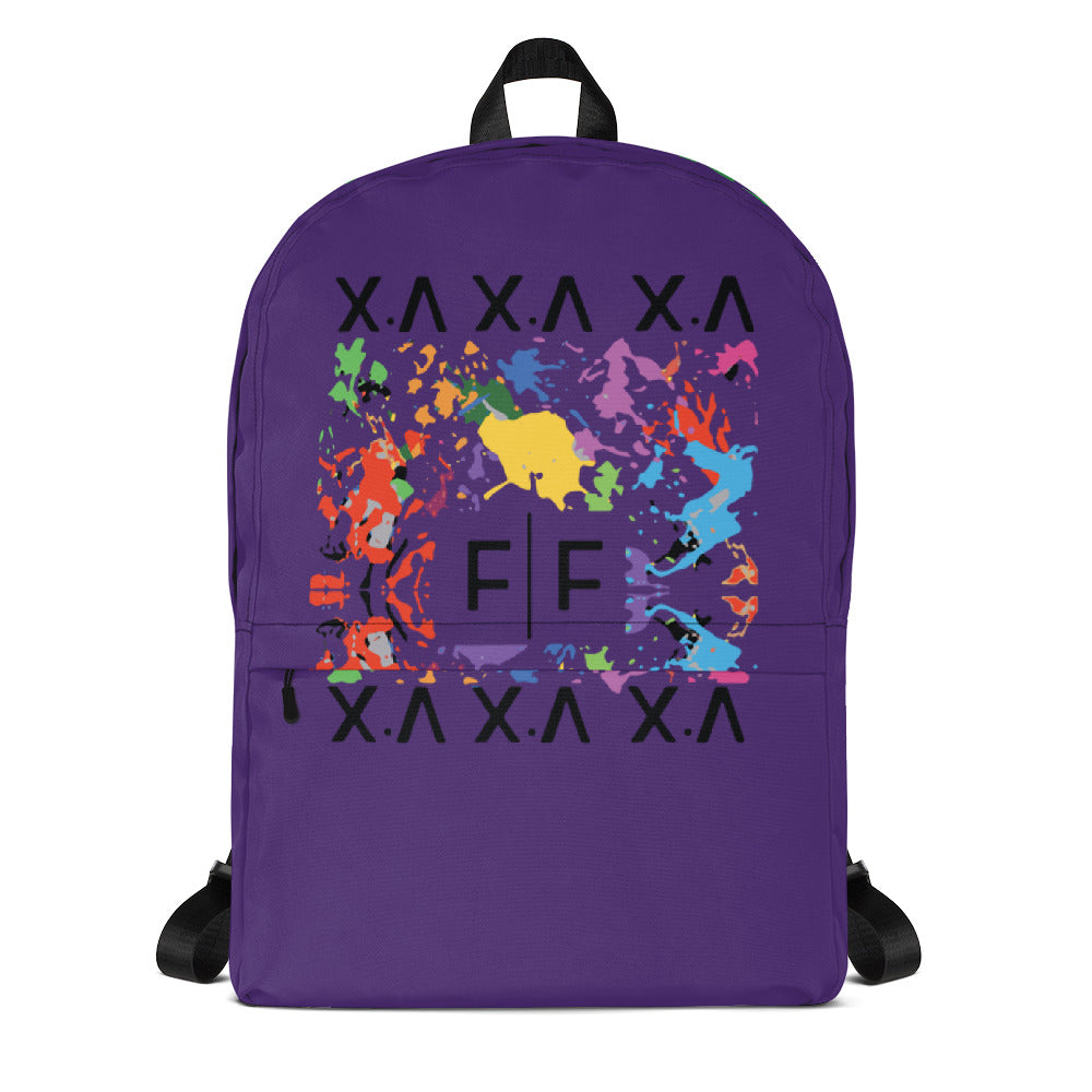 Fifteenz Purple Paint Splatter Backpack - Fifteenz