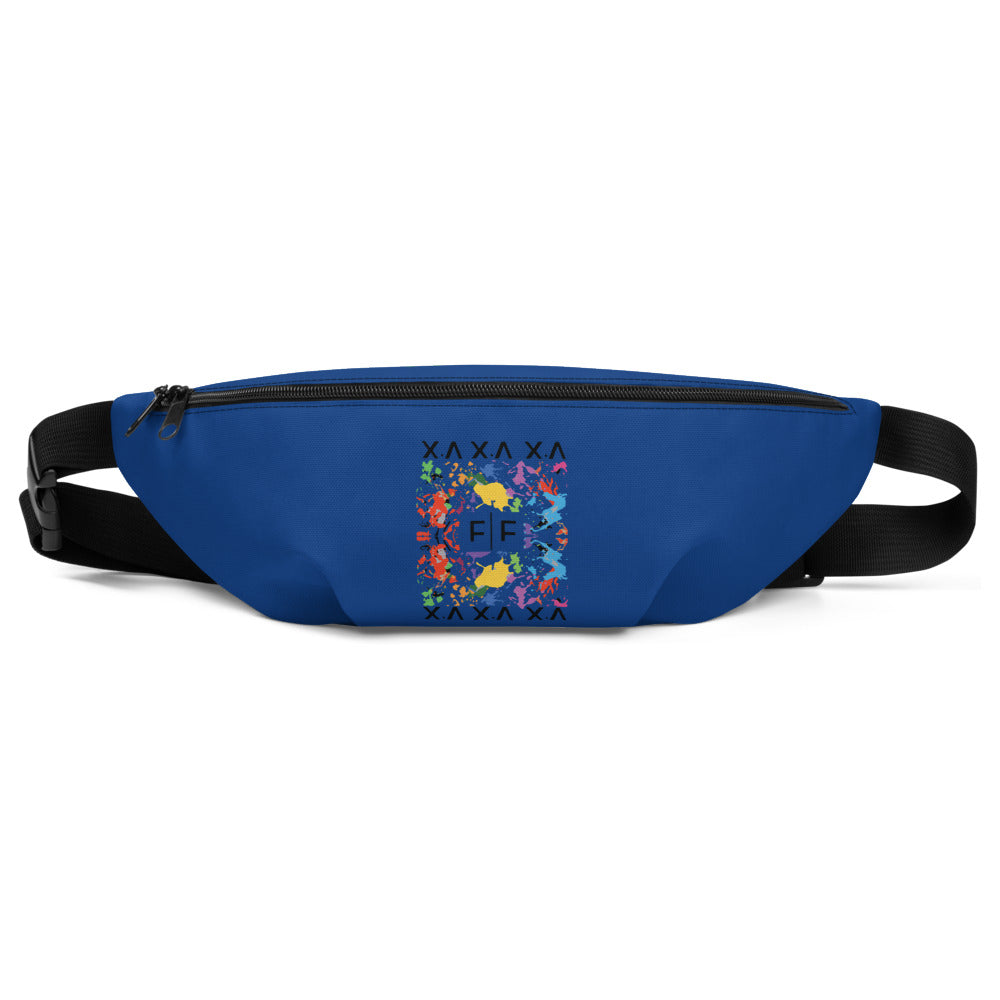 Blue Fifteenz F|F Paint Splatter Fanny Pack