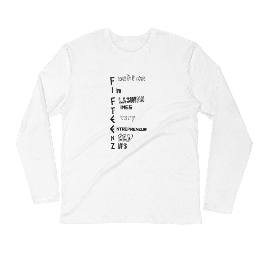 Fifteenz Acronym Long Sleeve Fitted Crew - Fifteenz