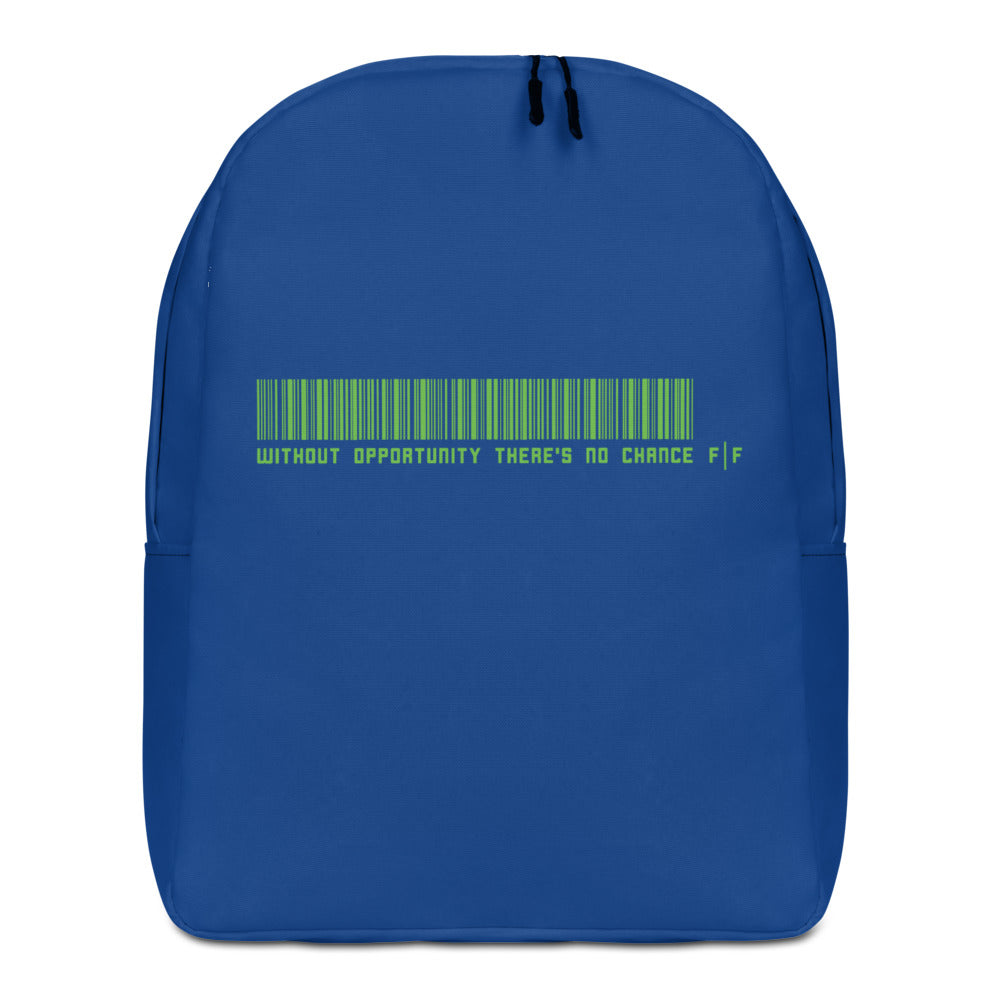 Blue Slogan Backpack - Fifteenz