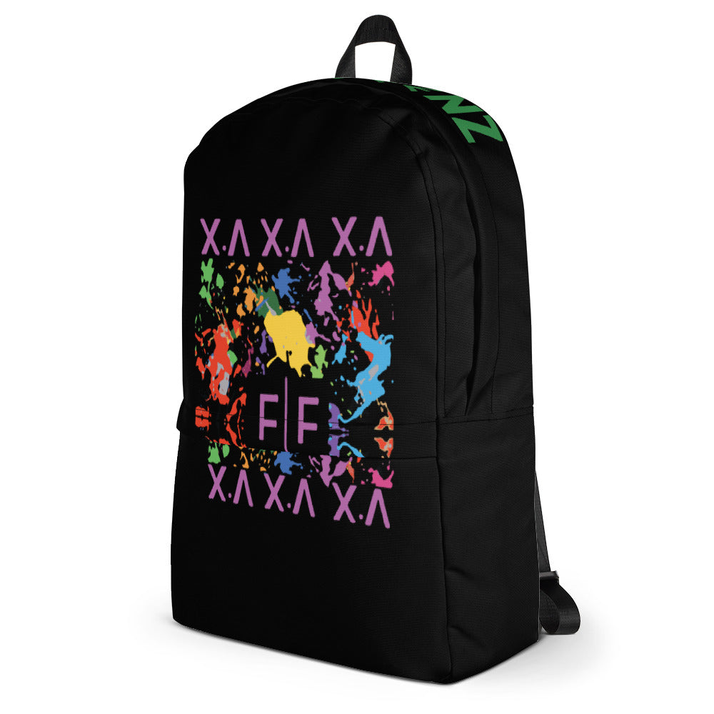 Black Fifteenz Paint Splatter Backpack - Fifteenz