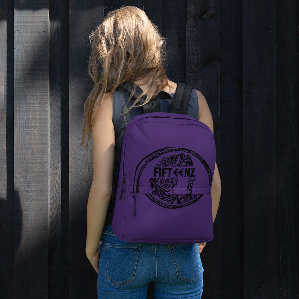 Purple Fifteenz Coin Backpack - Fifteenz