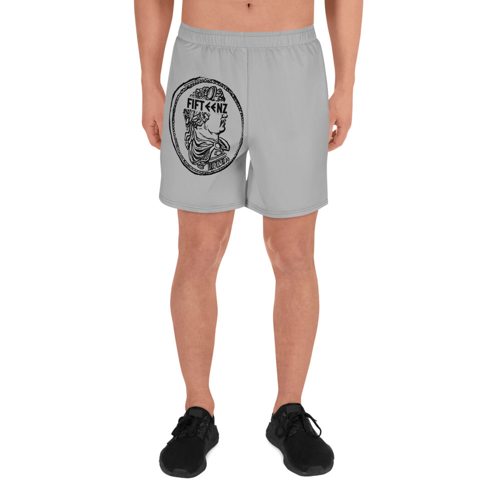 Fifteenz Gray Coin Men's Athletic Shorts - Fifteenz