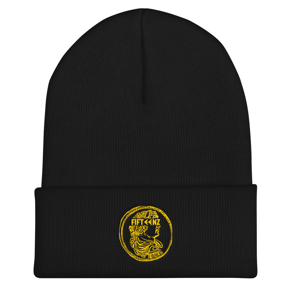 Fifteenz Coin Cuffed Beanie With Gold - Fifteenz