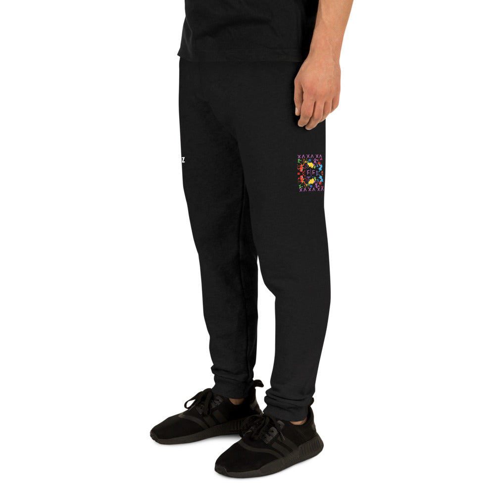 Fifteenz Black Paint Splatter Joggers