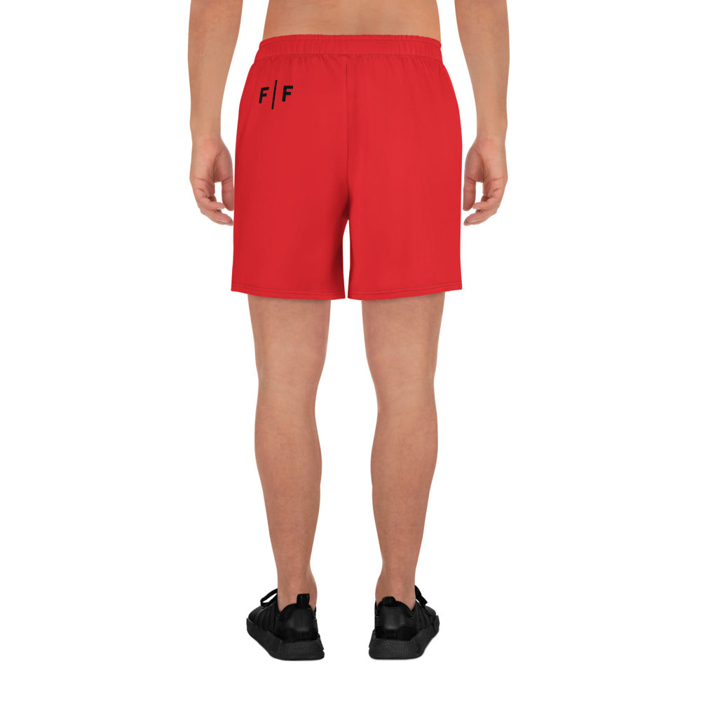 Fifteenz Red Coin Men's Athletic Shorts - Fifteenz
