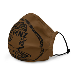Brown Fifteenz Coin Premium face mask - Fifteenz