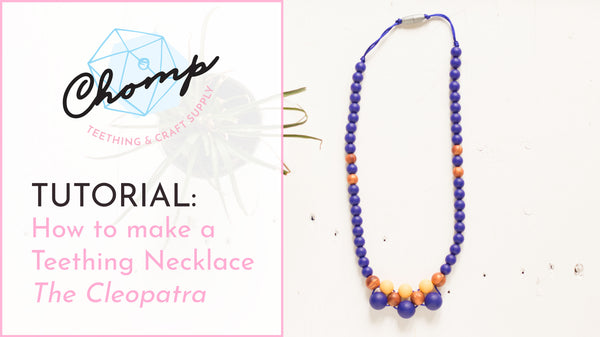 How to make a silicone bead teething necklace in the cleopatra pattern