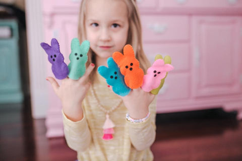 Easter Gift Ideas for Children: Bunny Peep Finger Puppets
