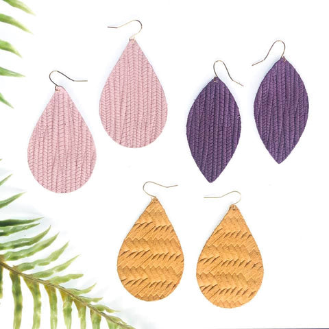 Easter Gift Ideas for Mom: Textured Drop Earrings