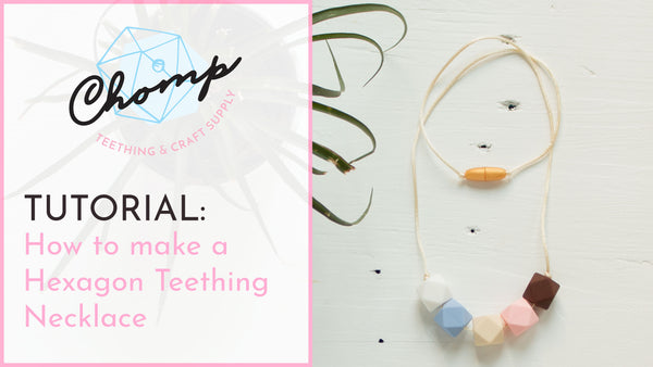 How to make a simple DIY Teething Necklace with hexagon silicone beads