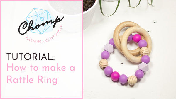 How to make a DIY Silicone & Wood Bead Rattle Ring for Teething