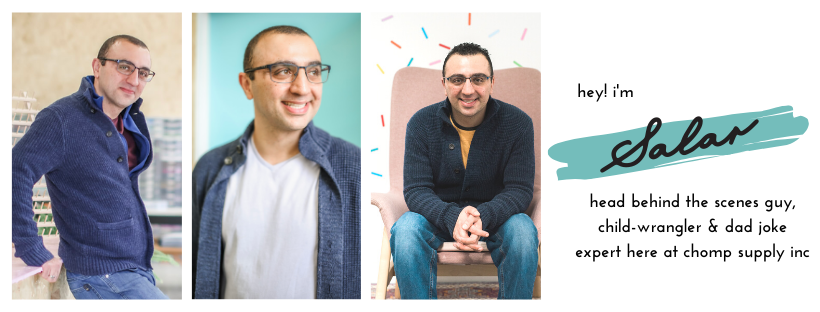 Salar Mehrad, co-founder of Chomp Supply Inc. leading silicone teething and craft supplier