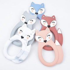 Feisty Fox Silicone Teether - Chomp Chew Bead Designs - Wholesale Silicone Beads for Teething and DIY Chewelry Making